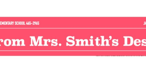 From Mrs. Smith's Desk – January 2021